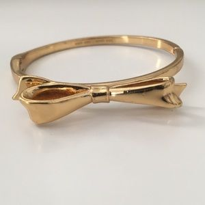 Kate Spade big bow gold bangle